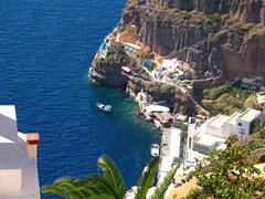 Santorini. Vedere catre stanci