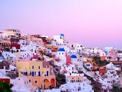 Apus de soare in Santorini