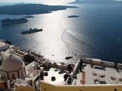 Santorini. Vedere la mare