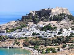 Акрополь в древнем городе Линдоса. Родос, Греция