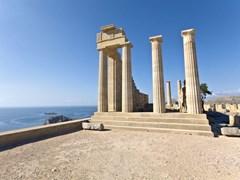 Древний храм Аполлона в Линдос, остров Родос, Греция