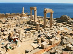 Археология в Линдос (Родос, Греция)