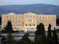 09_The-greek-parliament,-ex-kings-palace