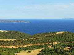 Ammouliani island panorama in Chalkidiki Northen Greece