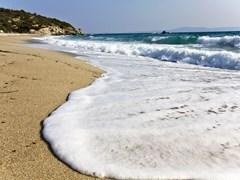 Armenistis beach at Chalkidiki, Greece