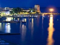 Night at Ouranoupolis, Halkidiki, Greece, Europe