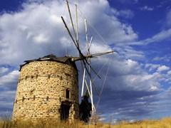 Old windmill in Halkidiki (Greece)
