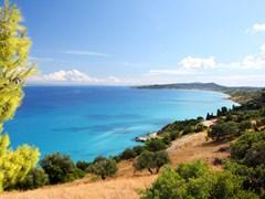 Лазурный берег побережья острова Закинф, Греция