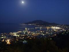 Город Занте ночью панорама, Закинф Греция