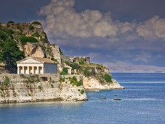 Греческий храм в Остров Корфу Греция