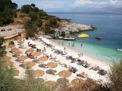 Пляж Кассиопия на острове Корфу