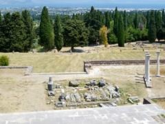 Панорама исторических руин Asclepieion на острове Кос