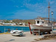 Рыбацкие лодки на побережье острова Кос, Греция