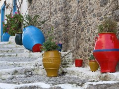 Традиционные греческие вазы в Кос, Греция