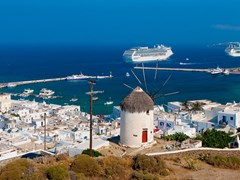 33_Panoramic-views-of-the-Greek-island-of-Mykonos---the-famous-windmill-and-cruise-ships-...
