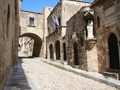 13_Greece.-Rhodos-island.-Old-Rhodos-town.-Street-of-the-Knights-(Now-Embassy-street)