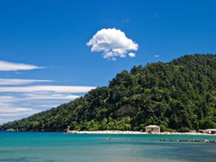 42_The-view-of-the-headland-from-a-beach-side-taverna-on-thassos,-greece