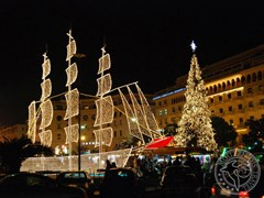 Новий рік в Салоніках. пл. Арістотеля