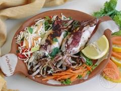 Кальмари. Грецька кухня