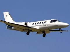 Літак Citation - 550 Bravo в повітрі