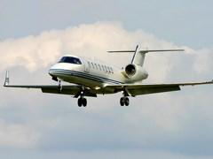 Learjet - 45 в воздухе